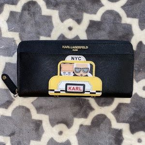Karl lagerfeld rare wallet with him and pouchette
